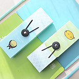 1PC Elastic Pen Boxes South Korea's Creative Writing Case Tower Buckle Stationery Pen Bag (Style random)