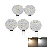 5 x G4 MR11 GU4 GZ4 3W 27x4014SMD LED 3000K/6000K Warm White/Cool White Round Shape LED Bulb AC/DC12V