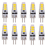 Luces LED de Doble Pin Decorativa YWXLIGHT T G4 3W 6 SMD 5730 500-700 lm Blanco Cálido / Blanco Fresco DC 12 V 10 piezas
