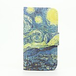 Oil Painting Pattern Wallet Leather Stand Cover Case for Wiko Sunset2