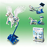DIY 3 in 1 Carriage Solar Powered Gadgets For Boy Children Educational ABS White / Blue