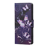Purple Butterfly Magnetic PU Leather wallet Flip Stand Case cover for Sony Xperia XA PP10 F3111 F3112 F3113