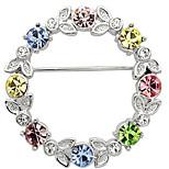 joyería fina de diamantes de imitación broche de diamantes para las mujeres
