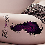 Fashion Large Temporary Tattoos Sexy Body Art Waterproof Tattoo Stickers Feather 2PCS