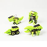 DIY 4 in 1 Solar Powered Gadgets For Boy Children Educational ABS Green