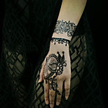 Hannah Black Lace High Quality Tattoo Stickers 9#-16#