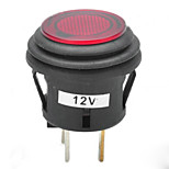 Jtron 12V 20A Car Push Button Latching Switch with Red/Blue LED Indicator
