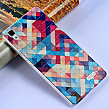 3D Relief Graphic Pattern Fashion PC Material Back Cover for OPPO R7T