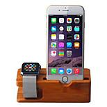 Apple Seguir soporte de carga de madera / teléfono móvil del reloj en la pantalla del andamio de bambú