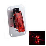 Jtron Silver Aluminium Flip-up Ignition 1-covered-switch Panel for Auto-refitting - (Red & Silver)
