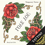 1pc Halloween Tattoo Paste Color Tattoo Stickers A Larger Version Waterproof Flowers