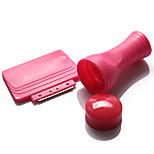 1Set Red Nail Stamp Tool Nail Set