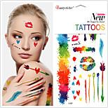 Temporary Colorful Graffiti tattoo stickersCreative ink Patterns Waterproof Flash Tattoos Body Art TaTy