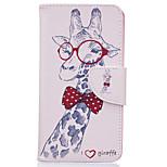 Giraffe Pattern Card Phone Cover For LG K7/K10