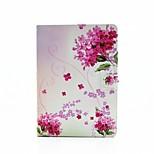 fleurs personnalité peint cuir PU rabat shell étui pour ipad AIR3 / ipad pro mini-
