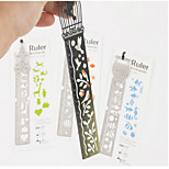 1PC Beautiful Fairy Tale Creative Hollow Ultra-Thin Metal Fairy Tale World Ruler Bookmark Rod(Style random)