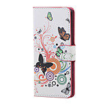 White butterfly Magnetic PU Leather wallet Flip Stand Case cover for Sony Xperia XA PP10 F3111 F3112 F3113