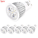 5pcs HRY® 10W GU10/E27 800LM Warm/Cool Light Lamp LED Spot Lights(85-265V)