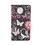Flower Pattern PU Leather Flip Case with Magnetic Snap and Card Slot for Microsoft Lumia 540