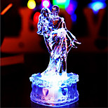 Creative Color-Changing Acrylic Romantic Sweet Couple Night Light Home Decoration(Random Color)