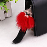 Korean Multicolor angora material cute keychain