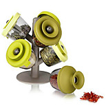 6pcs Tree Style Seasoning Cans Sealed Storage Tank Finelife Pop Up Spice Rack