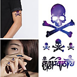 3D Trendy Waterproof  Tattoo Stickers - Photo Color Charming Body Accessories