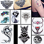 8PCS Swan Feather Wing Spindrift Totem Picture Design Waterproof Temporary Body Hand Leg Art Tattoo Sticker Design