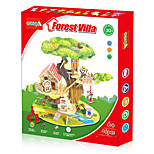 3D Three-Dimensional Puzzle Diy Wood Forest Villa Model Building Blocks (46Pcs)
