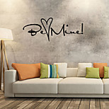 Words & Quotes / Romance Wall Stickers Fashion / Shapes Wall Stickers Plane Wall Stickers,vinyl 58*23cm