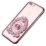 Plating Rose TPU Phone Case for iPhone 6/6S/6 Plus/6S Plus