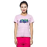 KORAMAN Women's Summer Outdoor Short Sleeve T-shirt Chinlon Round Collar Quick-dry Anti-UV