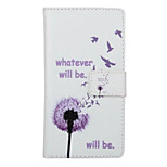 Hope Dandelion Pattern PU Leather Full Body Cover with Stand for Huawei Ascend P9