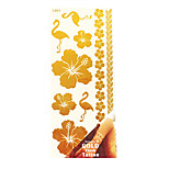 Rose Gold Water Transfer Stickers PVC Bronzing Tattoo Body Painting Stencils