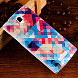 3D Relief Graphic Pattern Fashion PU Material Back Cover for OPPO R831S