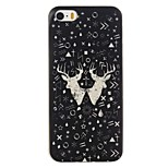 Good Quality Emboss Graphic TPU Back Cover for iPhone 5/5S/SE