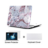 Marble Design Hard Full Body Case with Keyboard Cover and Screen Protector for Macbook  Pro 13