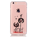 Transparent Colored Dandelion Pattern TPU Soft Case Phone Case For iPhone 6/6 Plus/6S/6S Plus