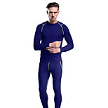 KORAMAN Men's Spring and Autumn Compression Long Johns Thermal Underwear Breathable Soft Stretch
