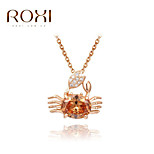 ROXI Golden Crab Pendant Necklace Jewelry
