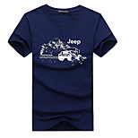 Outdoor Men's T-shirt Camping & Hiking / Climbing / Leisure Sports Running Breathable / Sweat-wicking / Wicking Summer