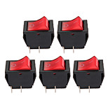 5 x Red On-Off Button 4 Pin Rocker Switch Car Vehicle DIY High Quality