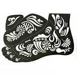 India Foot Pain Painless PVC Henna Tattoo Sticker Printing Airbrush Tattoo Stencils