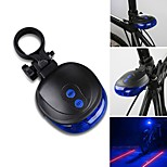 5LED Laser Cycling Safety Bicycle Rear Lamp Waterproof Bike Laser Tail Light Headlight Warning Lamp Flashing