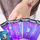 6Pcs Temporary Tattoo Sexy Female Body Art Tattoo Makeup Tattoo Fashion Bracelets Bracelets Fluorescence Sticker