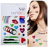 -Tattoo Aufkleber-Waterproof-Andere- fürDamen / Herren / Erwachsener-Mehrfarbig-PVC-1pcsStück -19x12cm-Painted
