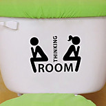 Wall Stickers Wall Decals Style Personality Toilet Decoration PVC Wall Stickers