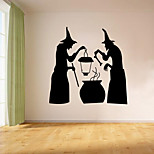 aw9461 Halloween Creative Witch Home Wall Halloween Party Decal Vinyl Wall Stickers for Shop Window