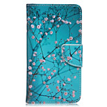 Plum Foliage Pattern Card Phone Holster For Huawei Honor 5X/Ascend P9/Ascend P9 Lite