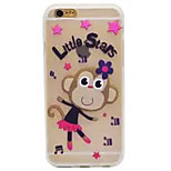Luminous Cartoon Monkey Pattern TPU Phone Case For iPhone 6/6s/6plus/6splus